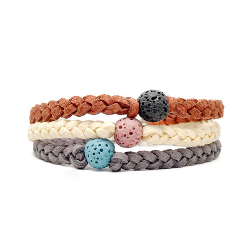 Beautiful and fun with mixing and matching lava beads these bracelets make excellent essential oil diffusers! Lava beads are naturally pours which allows them to soak up the essential oils. Your body heat will then diffuse the oils throughout the day! Available in over 25 bracelet colors and 10 bead colors!