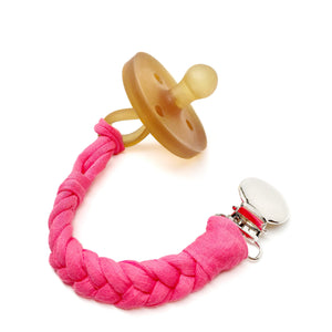 Watermelon Cotton Braided Pacifier Clip - Late Night Luna