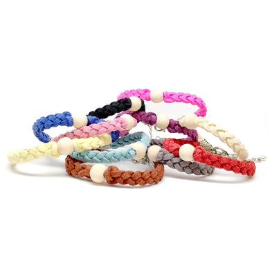 Little Wood Bead Bracelets / Essential Oil Diffuser Kids Jewlery - Late Night Luna
