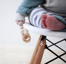 Tawny Crochet Wood Bead Teething Toy - Late Night Luna
