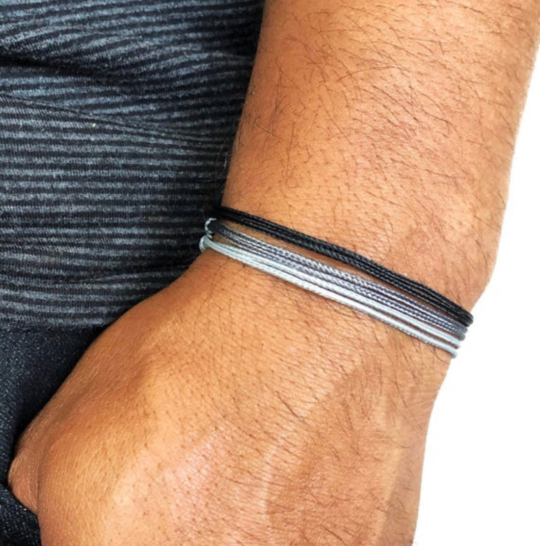 Vegan Nylon Men's String Beach Bracelets