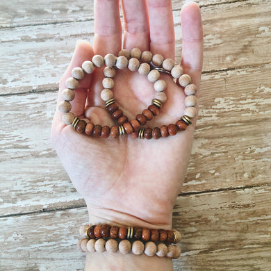 Goldstone Rose Wood Diffuser Bracelet
