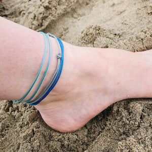 Waterproof Adjustable Anklet / String Surfer Cord Beach Anklet
