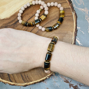 Tiger Eye Rose Wood Diffuser Bracelet