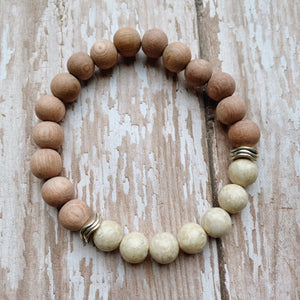 Riverstone Rose Wood Essential Oil Diffuser Bracelet