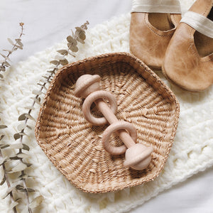 Natural Wood Toy Rattle