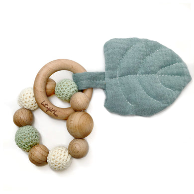 Jade Aspen Leaf Teething Toy