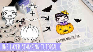 "One Layer Stamping Tutorial: Anleitung zum Stempelset ""Happy Halloween"""