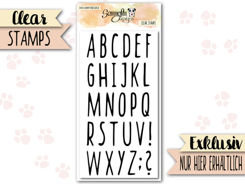 Clear Stamps ♥ Alphabet SammySkinny ♥