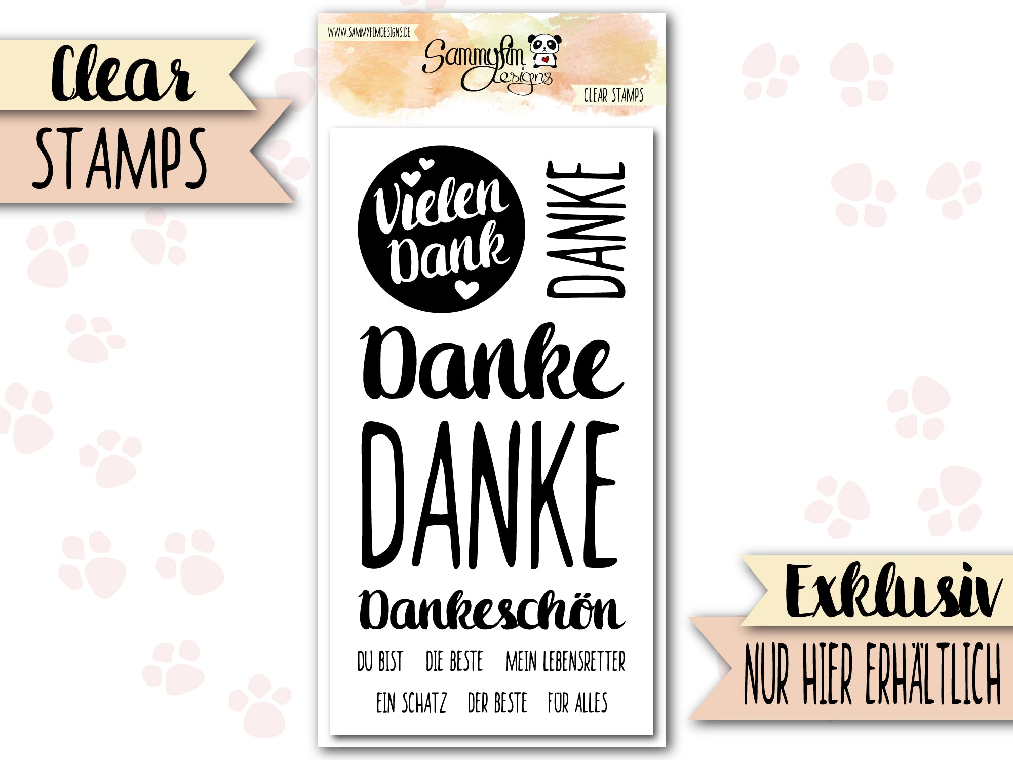 Clear Stamps ♥ Danke ♥