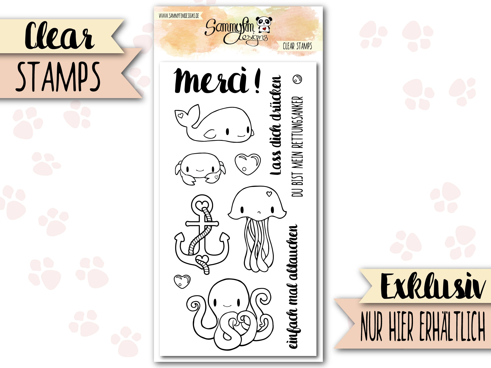 Clear Stamps ♥ Meerestierchen ♥