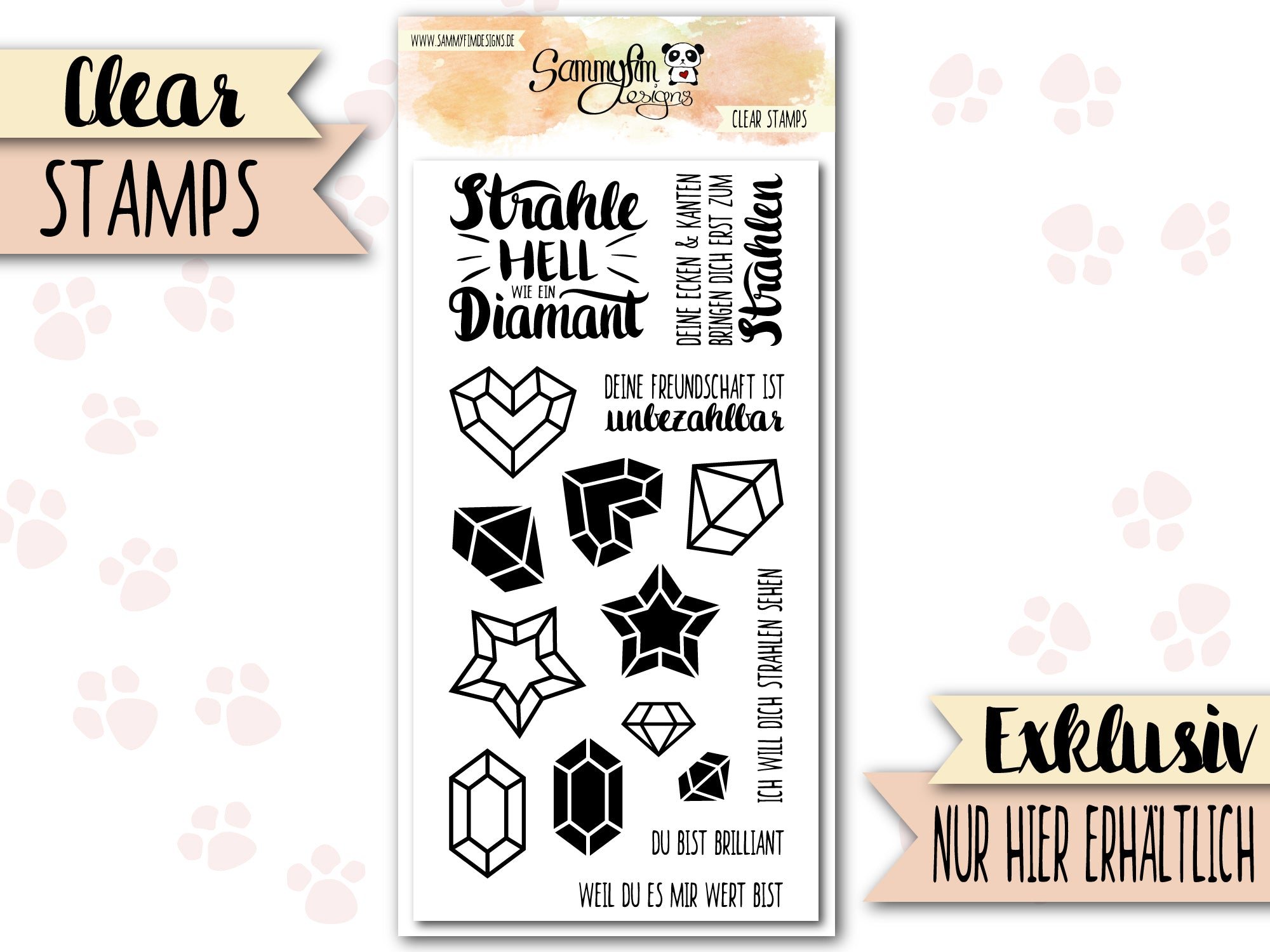 Clear Stamps ♥ Strahlender Diamant ♥