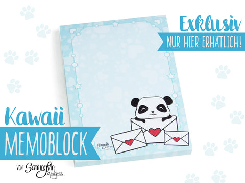 Mini-Memoblock DIN A7 ♥ Pandastische Post ♥