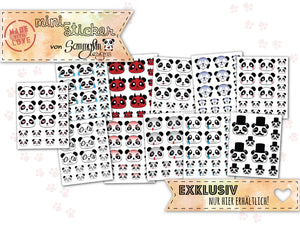 Mini-Sticker Set ♥ Panda Emojis ♥