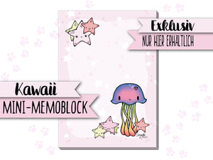 Mini-Memoblock DIN A7 ♥ Qualle Jelly ♥