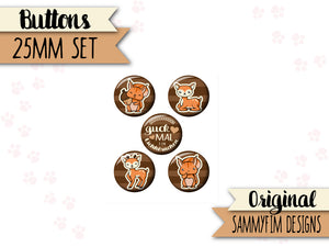 Buttons Set (25mm) ♥ Waldzauber ♥ Braun