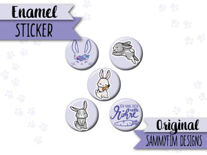 Enamel-Sticker ♥ Ei Love Ostern ♥ Hasen