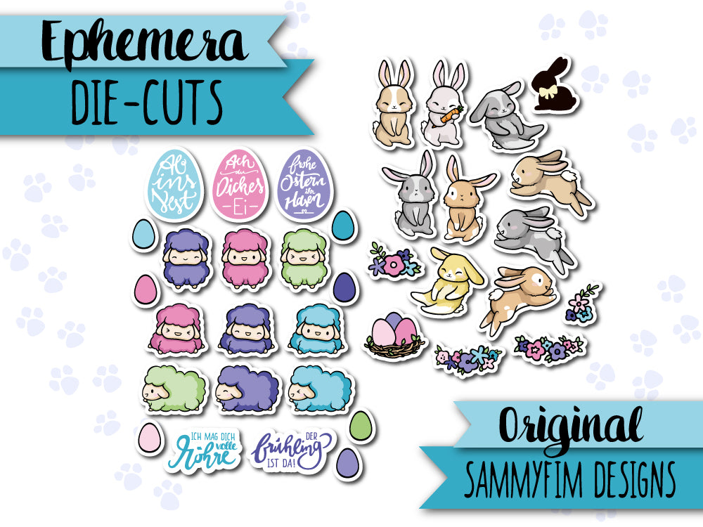 Ephemera Pack (Die-Cuts) ♥ Ei Love Ostern ♥