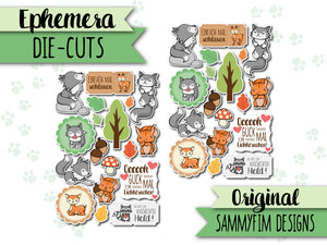 Ephemera Pack (Die-Cuts) ♥ Waldzauber ♥