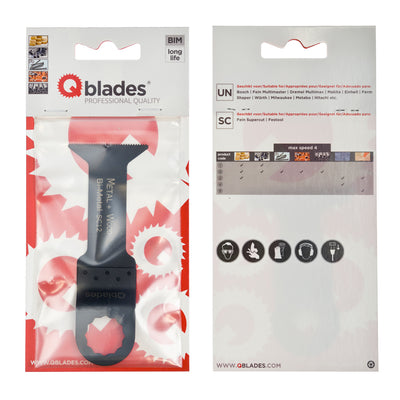 Qblades SC12 Multitool-Sägeblatt Bi-metal 44x78mm