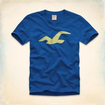 Men's v-neck T-Shirt - Blue