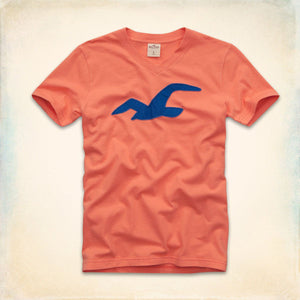 Men's v-neck T-Shirt - Orange
