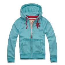 Men's full zip jumper - Light Blue/Red