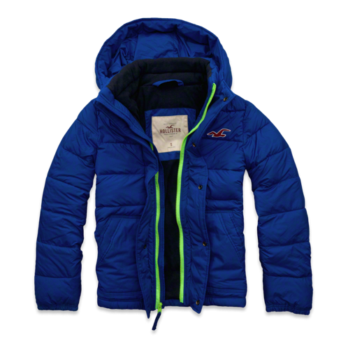 Men's Zuma Beach Jacket/puffer coat - Royal Blue
