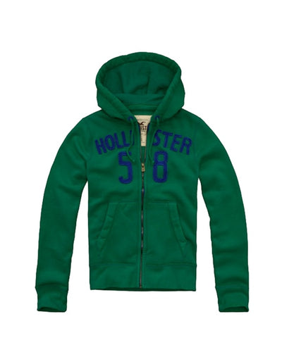 Men's full zip jumper - Green/blue