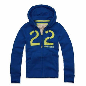 Men's Full Zip Jumper - Royal Blue/Lime