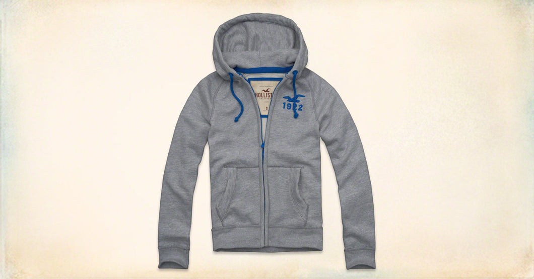 Men's full zip jumper - Grey/Blue