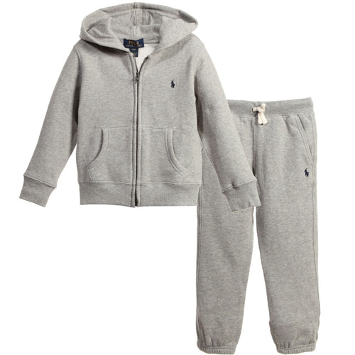 Boys Tracksuit with Pony Logo - Grey