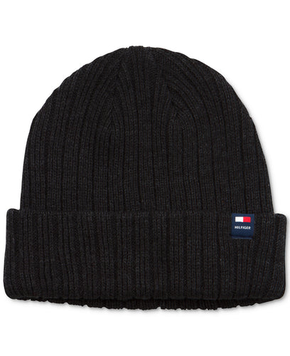 Cuffed Men's Beanie Winter Hat - Black