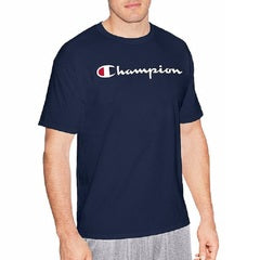 CHAMPION SCRIPT T-SHIRT - MEN'S NAVY
