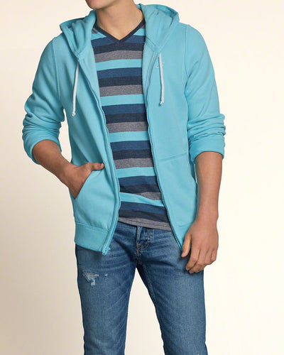 Men's full zip jumper - Light Blue