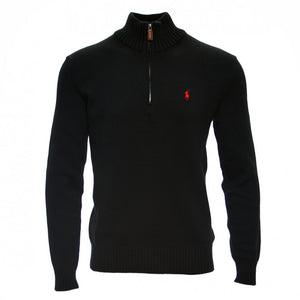 Men's half zip jumper - Black