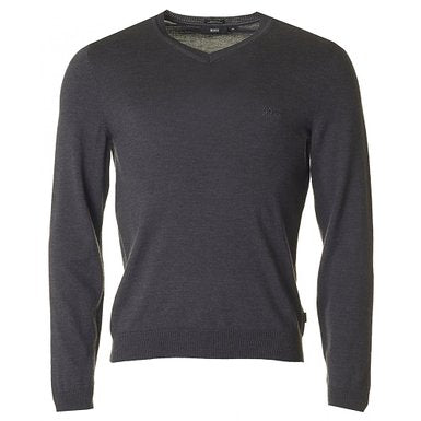 Black V-Neck Batisse Jumper - Black