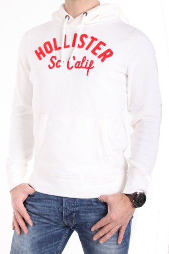 Men's white/red Hoodie