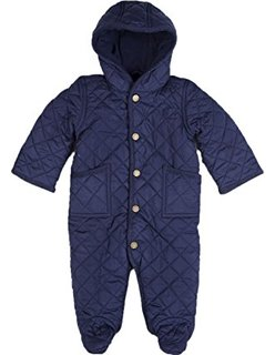 Babys Quilted Bunting Snow suit - Navy