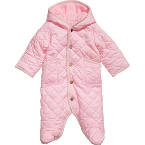 Babys Quilted Bunting Snow suit - Pink