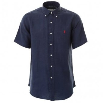 Mens short sleeve classic fit shirt - Navy