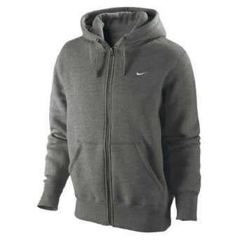 Classic Fleece Mens Full Zip Hoodie Jacket - Charcoal