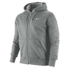 Classic Fleece Mens Full Zip Hoodie Jacket - Grey