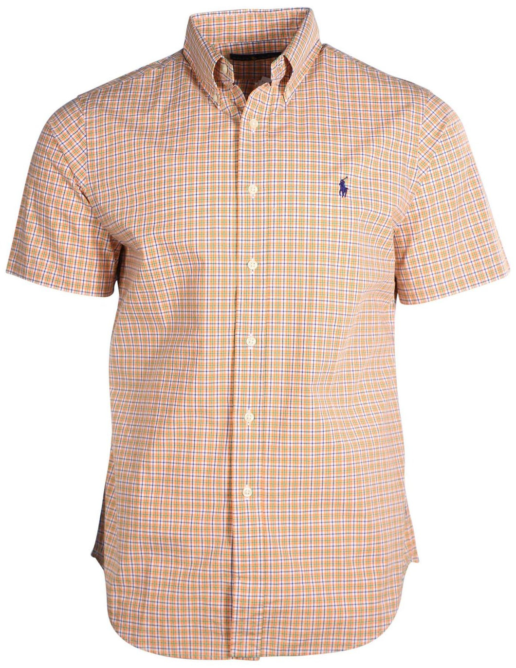 Mens short sleeve classic fit shirt -ORN/ROYAL