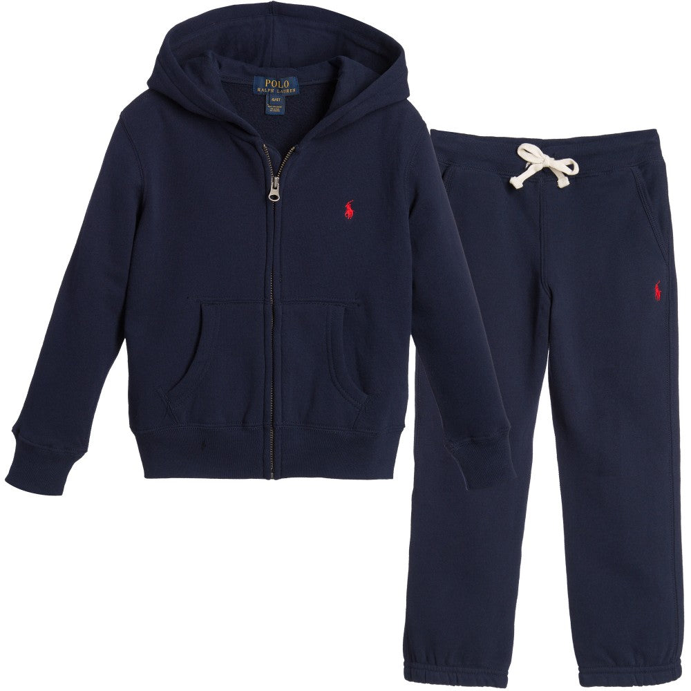 Boys Navy Blue Tracksuit with Pony Logo -Navy