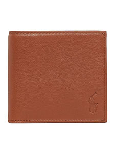 Pebbled bifold wallet - Tan