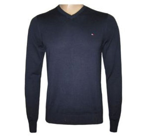 V-Neck Jumper - Navy