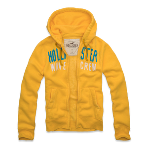 Men's full zip jumper - Yellow