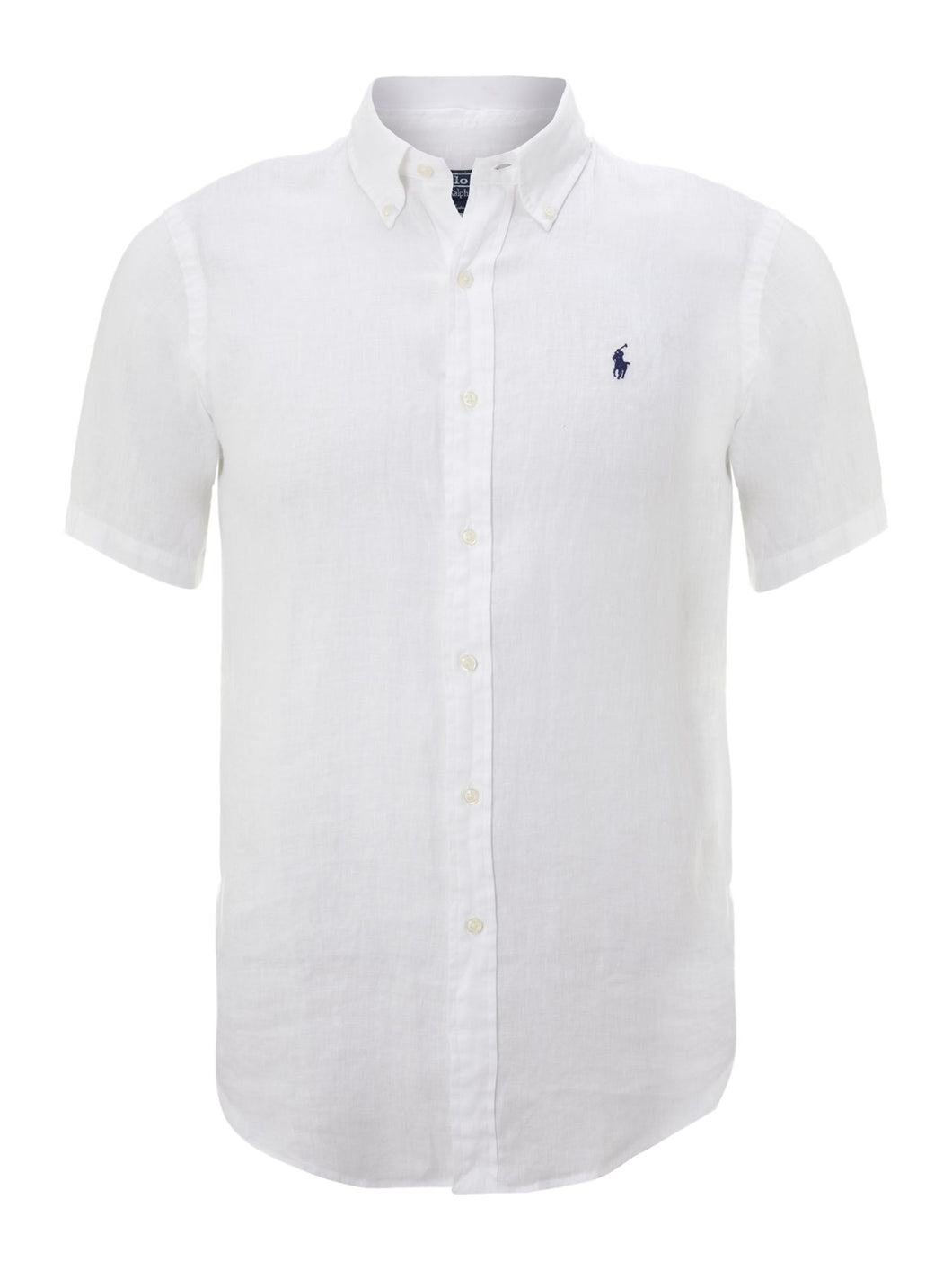White Short Sleeved Classic Fit Shirt - white