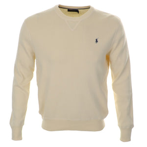 CREW NECK JUMPER - CREAM